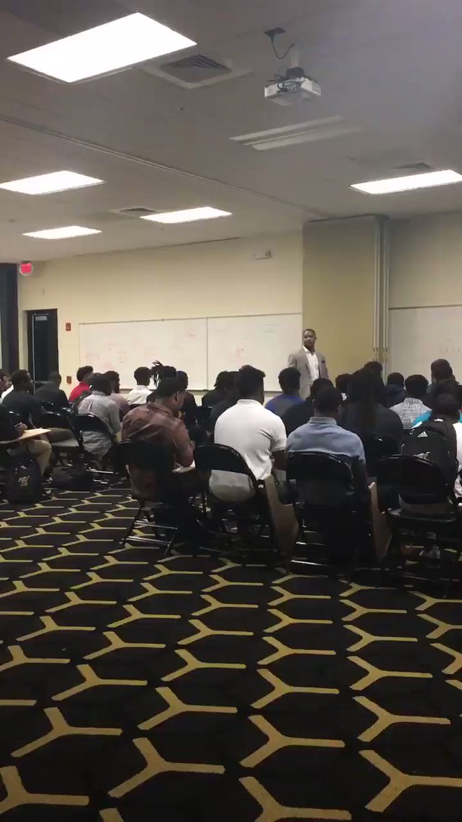 Thank you to a proud alumni @machionsanders for coming to speak to the team this morning! He's all about #PRIDE! #STATEofMIND #MyASU