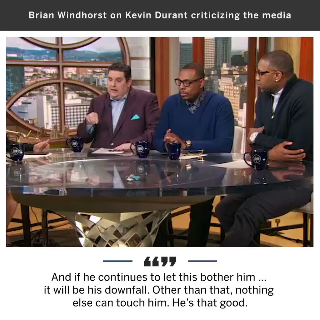 .@WindhorstESPN gave his take on Kevin Durant and his recent criticism of the media. https://t.co/VXY1F8CAw3