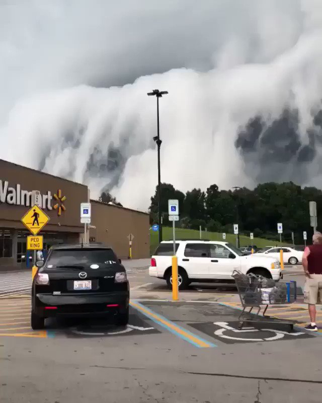 Straight out of a horror movie! Scary clouds passing through Anna, Illinois.