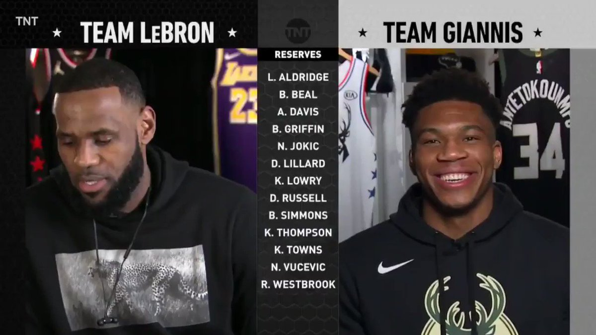'Isn't that tampering?'  Giannis taking a shot at LeBron after he drafted Anthony Davis �� https://t.co/cBptdRdExs