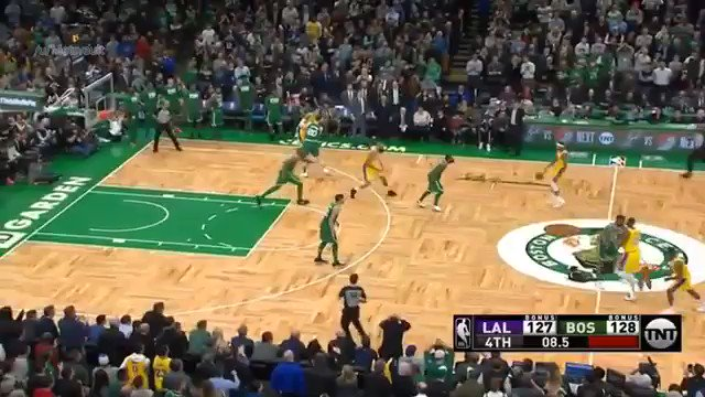 RAJON RONDO WINS IT FOR THE LAKERS IN BOSTON. WOW.