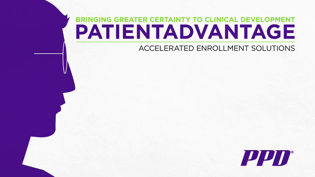 PatientAdvantage, PPD's accelerated enrollment solution, helps match patients and sites more effectively for clinical trials. Learn more about how we help deliver life-changing therapies through AES. http://bit.ly/2SoTx50.