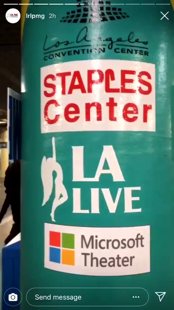 Staples Center + security setting up for the Grammys https://t.co/rYWl09rZNs