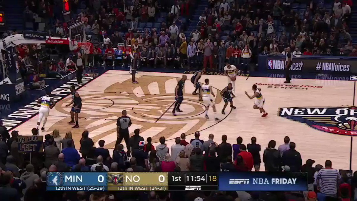 Anthony Davis booed on his first touch and cheered for his first score in New Orleans. https://t.co/QJwgrWpMZT