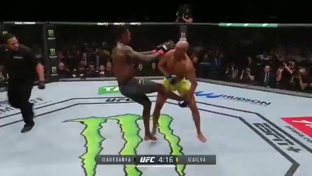 Voló la araña #UFC234 https://t.co/57aGc9htMV