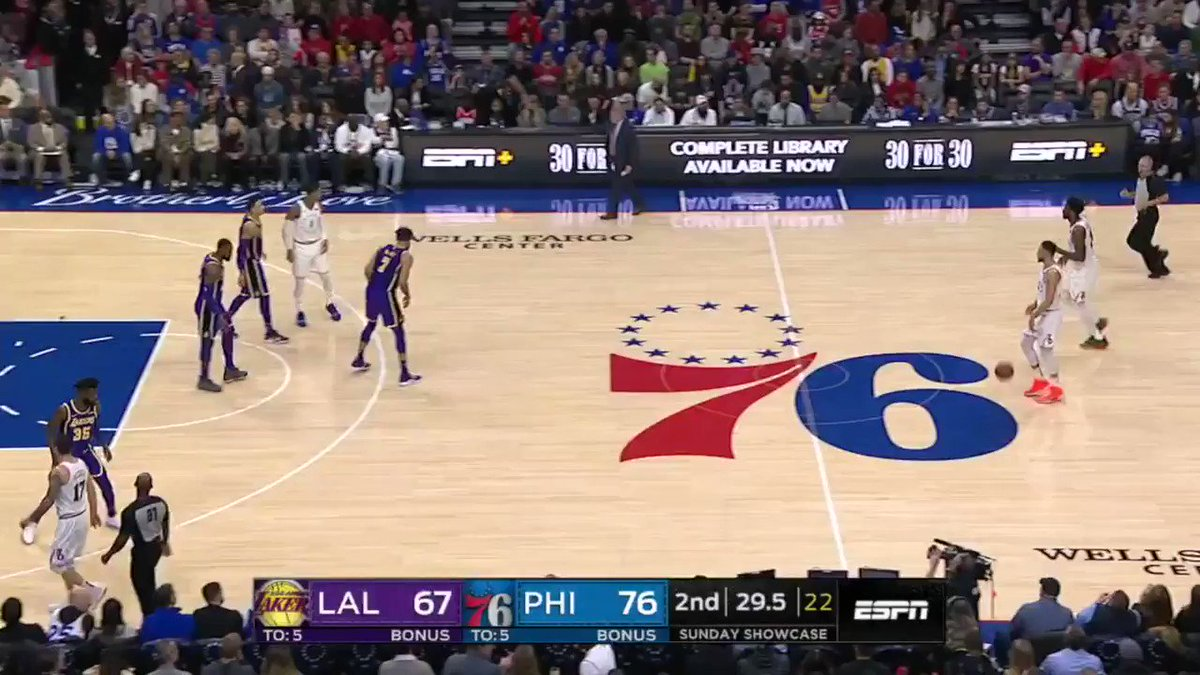 Here's a possession where LeBron guarded Ben Simmons ... FROM THE KEY. https://t.co/MCRpsPqSTn