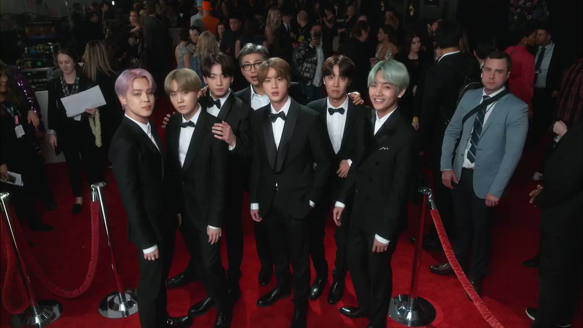We can't stop watching this video of #BTS. #GRAMMYs