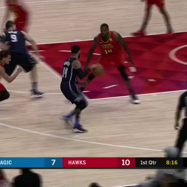 John Collins protects the @ATLHawks paint on League Pass! https://t.co/qAnF7evWql