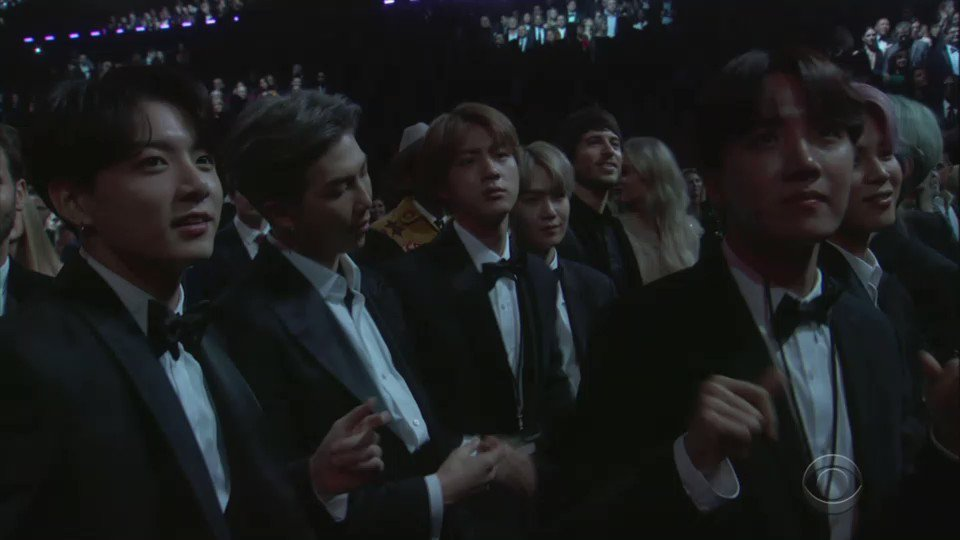 #BTS while Dolly Parton and Miley Cyrus perform #Jolene at the #GRAMMYs https://t.co/SF69o7J9dF #BTSxGrammys