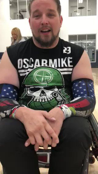 PVA member and Division II #quadrugby athlete Ryan Lindstrom, a @USNavy #veteran, shares his excitement after his team @weareoscarmike Militia beat @MedStarNRH Punishers to win the 2nd annual #PVACodeOfHonor Quad Rugby tournament. Learn about Ryan's story: http://bit.ly/2SGX26T