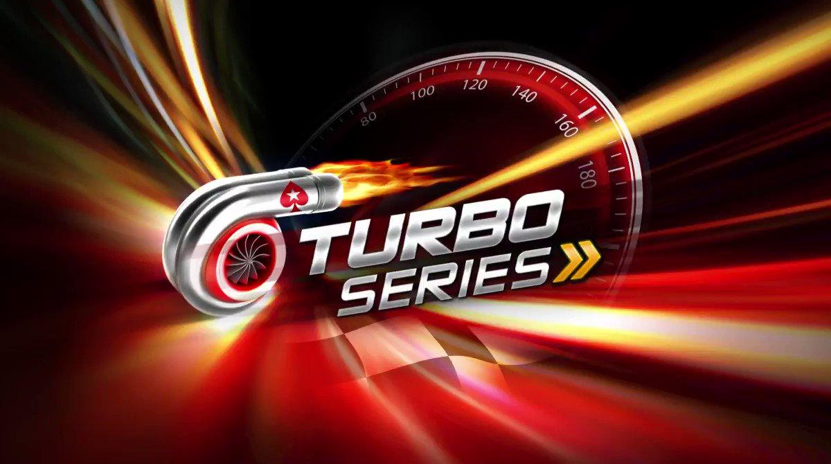 El domingo finaliza la #TurboSeries y se juegan dos Eventos Principales a máxima velocidad! ⏱ Cuánto garantiza el Main Event Low? Responde correctamente junto a tu PokerStars ID y participa por:  🎫 5 tickets de $11 🎫 10 tickets de $5,50  Aplican T&Cs: http://psta.rs/smtc