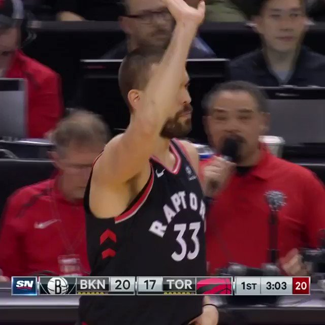 Marc Gasol receives a standing ovation in his Toronto debut with the @Raptors!  #WeTheNorth https://t.co/npL3Kk5COV