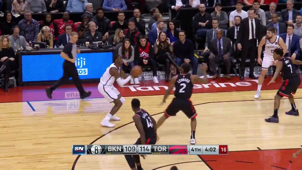 #NBAAllStar sequence... #KawhiLeonard to #KyleLowry!  @Raptors lead 117-112 with 3:42 remaining on NBALP. https://t.co/qOVMQ28x4z