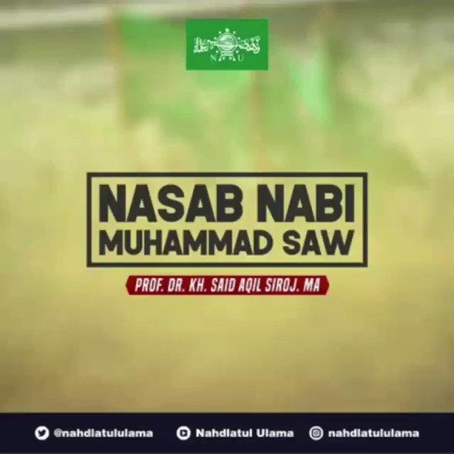 [HIKMAH] Hapal nasab Nabi Muhammad sampai Nabi Adam? Mari kita hapalkan bersama dan semoga kita mendapatkan berkah dan syafaatnya di hari akhir kelak. Amin...