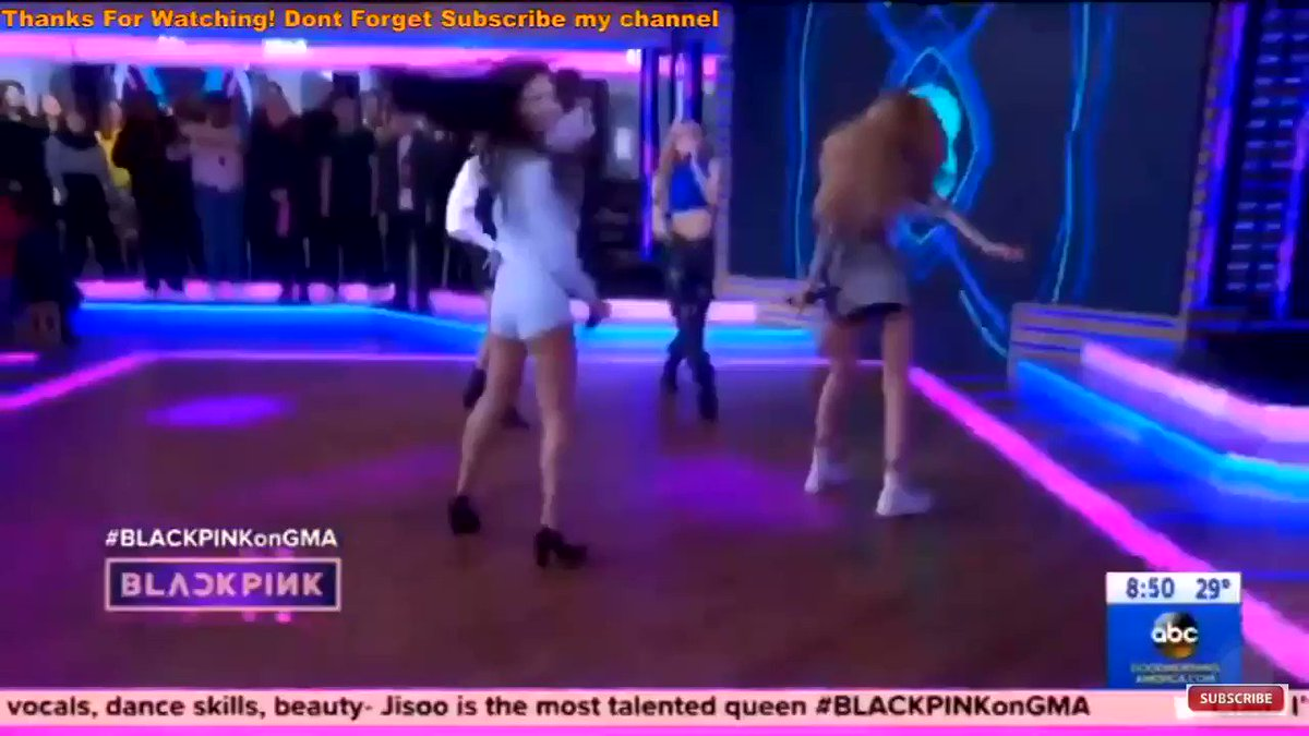 rapper lisa 🔥 that model walk while rapping #GMAwithBLACKPINK