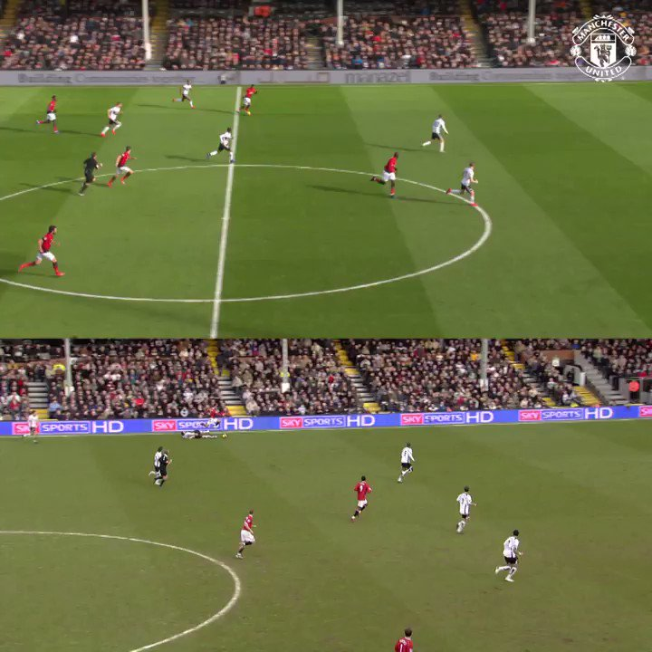 ⚙️ @AnthonyMartialand @Cristianojust shifting gears v Fulham! 😎 #MUFC