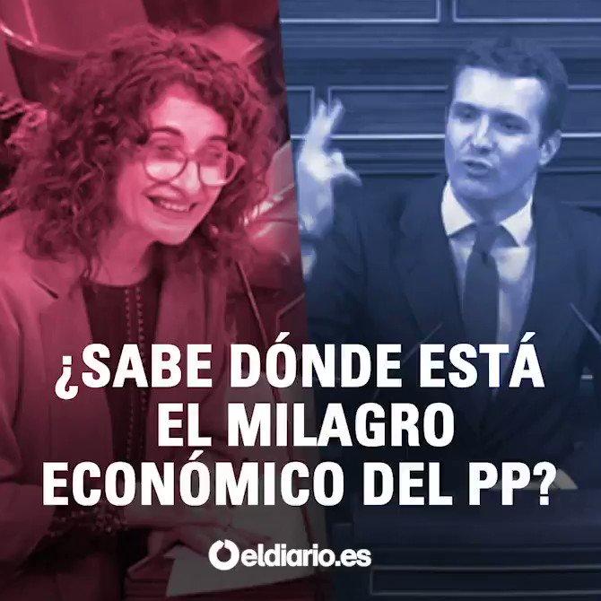 """Montero a Casado: """"El milagro económico del PP está en la cárcel"""" https://www.eldiario.es/politica/MINUTO-POLITICO-Comienza-juicio-proces_13_867343258_23026.html… #PGE2019"""