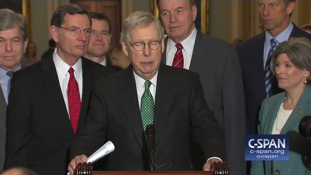 """Mitch McConnell is forcing a vote on the Green New Deal to get Democrats on record for having supported it ahead of the 2020 elections: """"We're going to be voting on that in the Senate. Give everybody an opportunity to go on record and see how they feel about the Green New Deal"""""""
