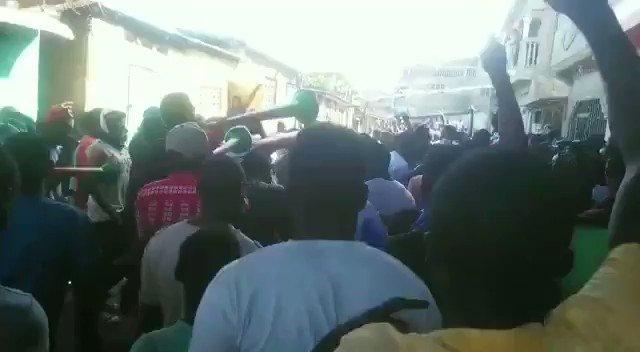 RT @HaitiInfoProj: Protests underway in Okap (Cap Haitien), #Haiti. https://t.co/k02iPGysRx