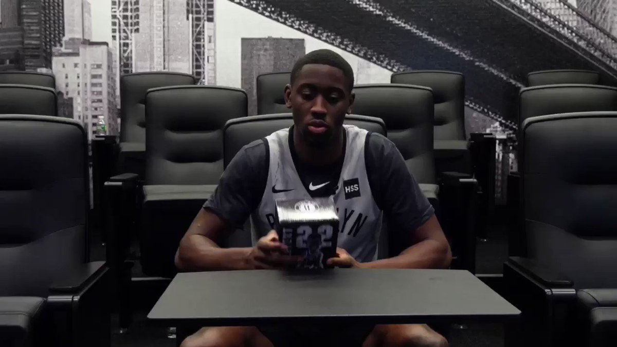 1. Watch @CarisLeVert's reaction to seeing his bobblehead for the first time.  2. Make sure you get a Caris LeVert Bobblehead when we take on the Wizards on Wednesday 2/27  https://www1.ticketmaster.com/event/00005501A3BB4A6B?camefrom=CFC_NETS_SITE_PROMO_PAGE…