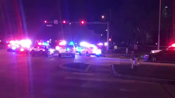 Here's the scene on Westheimer Parkway in Fort Bend County. This is where the chase ended. @HCSOTexas tells me one suspect is dead, another wounded, both shot by law enforcement. Two others have been arrested. #khou11