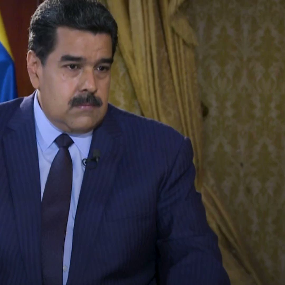 """""""I don't have an important family name, noble blood. I am a worker. And I  spend all of my days close to the people. I know exactly what's  happening.""""    Euronews correspondent @AnneliseBorges sat down with Venezuela's President Nicolas Maduro in Caracas."""