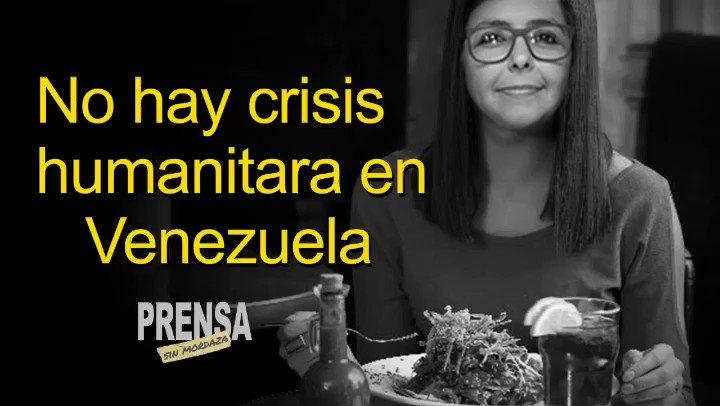 ¿No hay crisis humanitaria en Venezuela? Delcy Rodríguez ha insistido recientemente en una entrevista realizada por la agencia Francia 24 que en #Venezuela no existe Crisis Humanitaria- #madurodictador #maduroasesino #desnutricion #prensasinmordaza # 13F