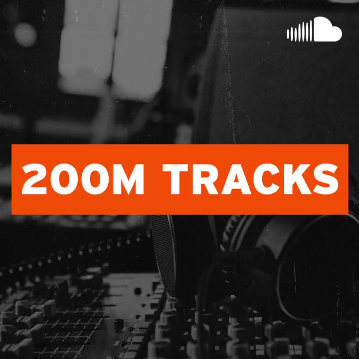 """Because of YOU, we have hit a huge milestone - the 200 millionth track has been uploaded to SoundCloud - listen to @franci303's """"Eye Ring,"""" and keep uploading because who knows, our next big milestone could be your next upload ⚡ http://bit.ly/2S0TMyJ"""
