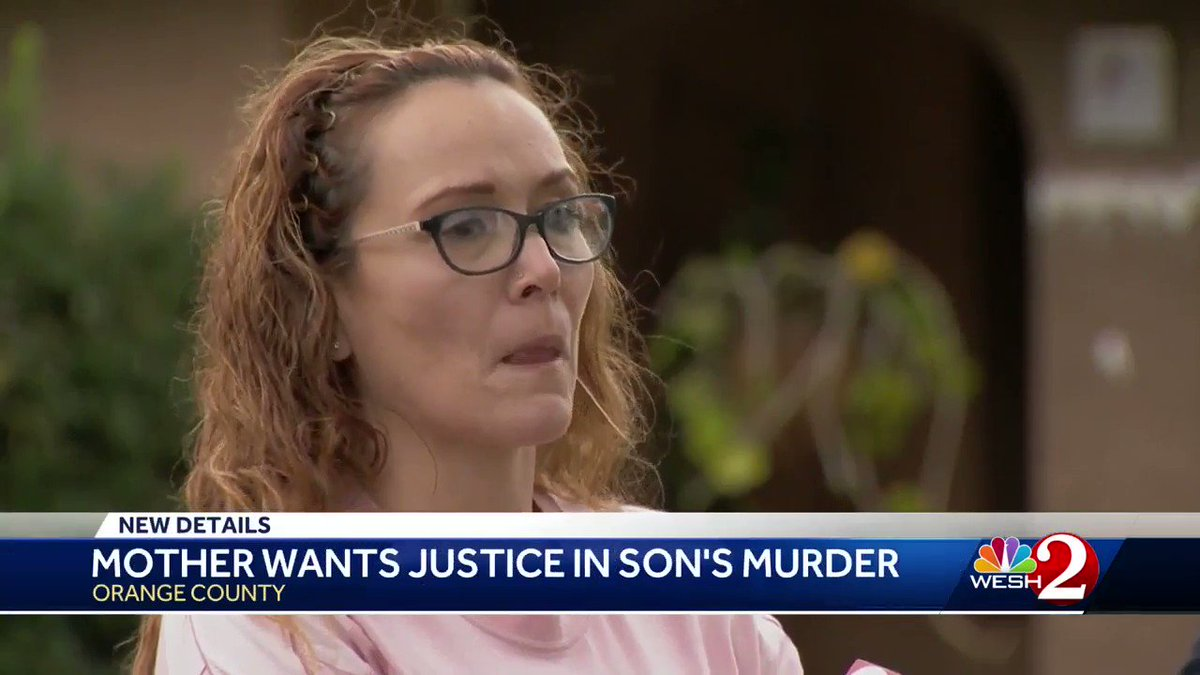 """""""I wake up every day in tears.""""  Almost a month to the day her son's life was taken, a mother's pain is still the same and knowing most of the people wanted in the case are in custody gives hope for closure -- but no comfort.   Our @WESH report:"""