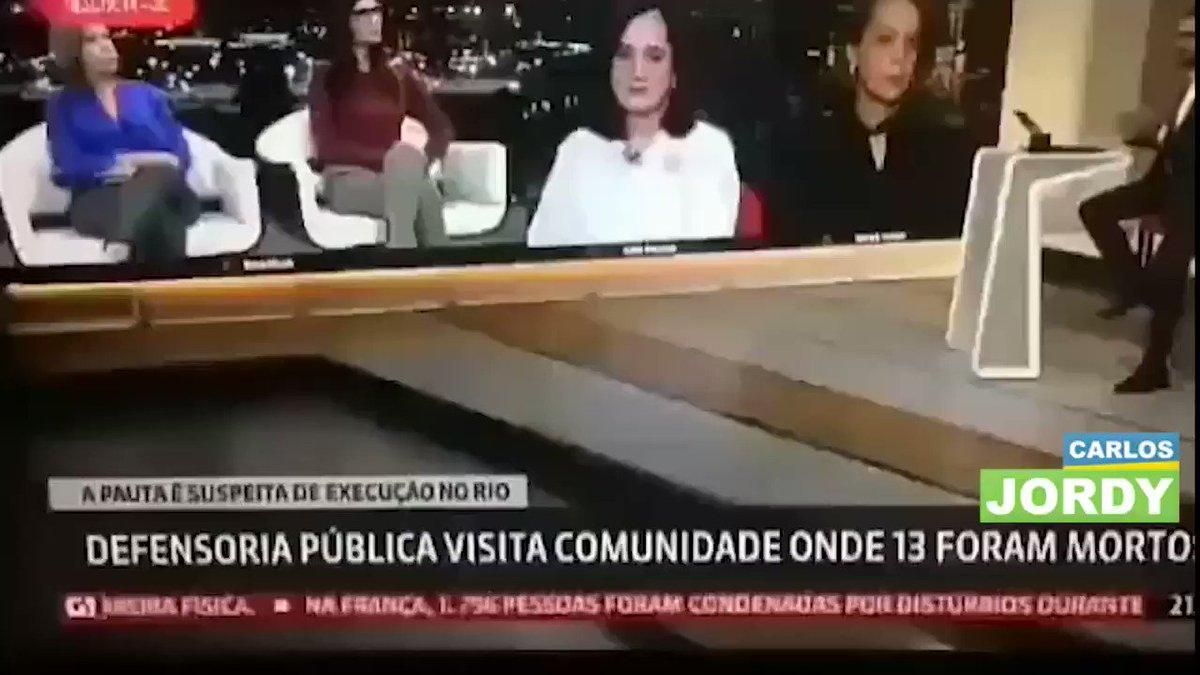 Comentarista da Globonews mostra preocupação por ter morrido 13 bandidos e nenhum policial. No Brasil o poste não mija no cachorro, ele caga.