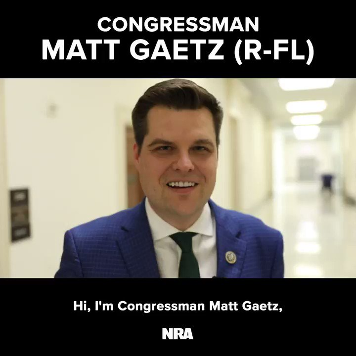 """Just behind these doors, Democrats are trying to make it where it's hard for law-abiding citizens to be able to access their rights and protect themselves."" – @NRA life member Rep @RepMattGaetz #HR8 #2A"