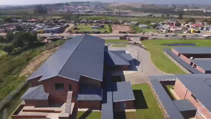 The community of Mayibuye, Kanana and Phomolong you are next, here's your new school. #NewSchoolEveryWeek  #LetsGrowSA