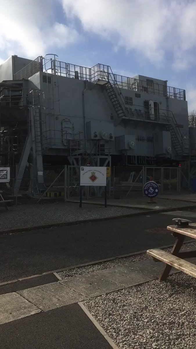 Here's HMS Havoc rocking and rolling and the #Fisher28s are inside.  Up to 240 tonnes of water can be pumped into the unit in a 45 minute session - this would fill 3,000 family sized baths.  The unit can be drained in 40 secs.  Water temp is 5 degrees Celsius.