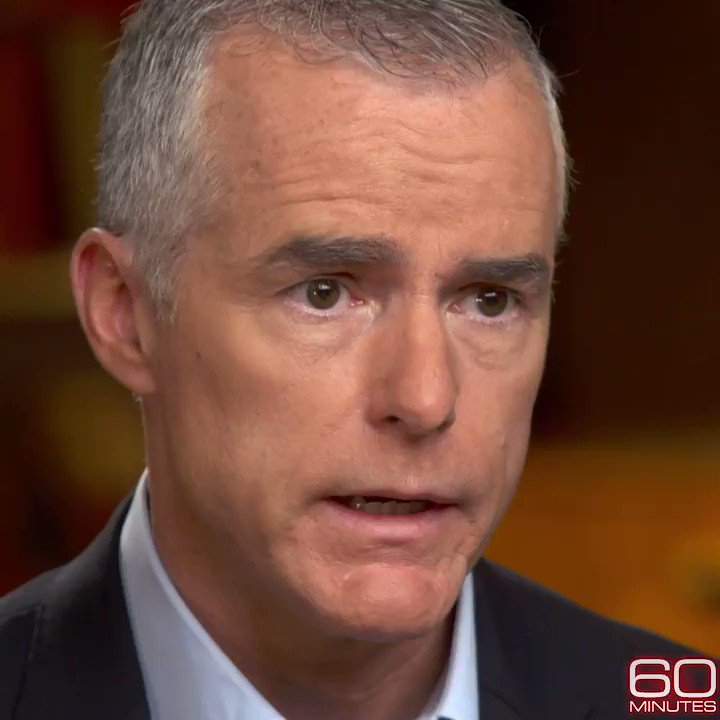 """I was speaking to the man who had just … won the election for the presidency and who might have done so with the aid of the government of Russia."" Former FBI acting director Andrew McCabe, Sunday on 60 Minutes. https://cbsn.ws/2Ebedpk"