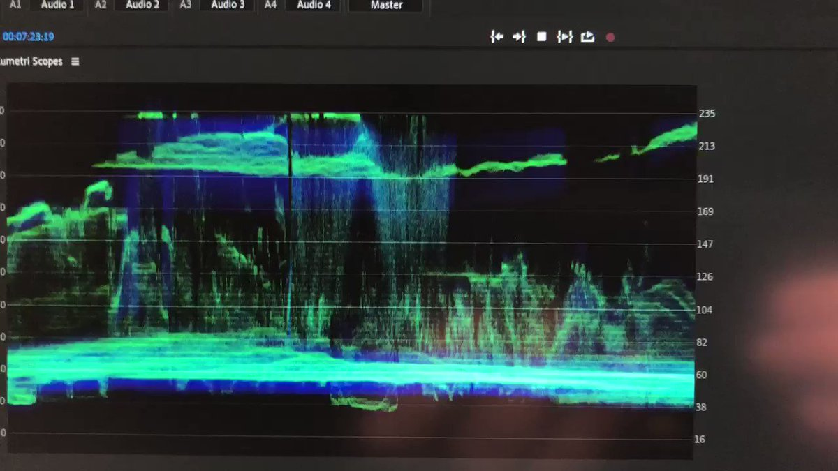 Image for the Tweet beginning: Nice #abstract #waveform monitor of