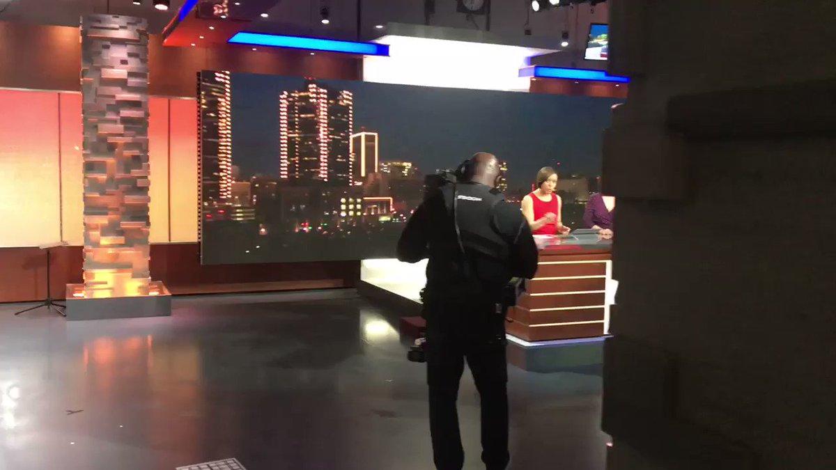 When a night-shifter crashes the morning news set @NBCDFW @DeborahNBC5 @LauraHarrisNBC5 #amnewsers #HappyValentinesDayLadies