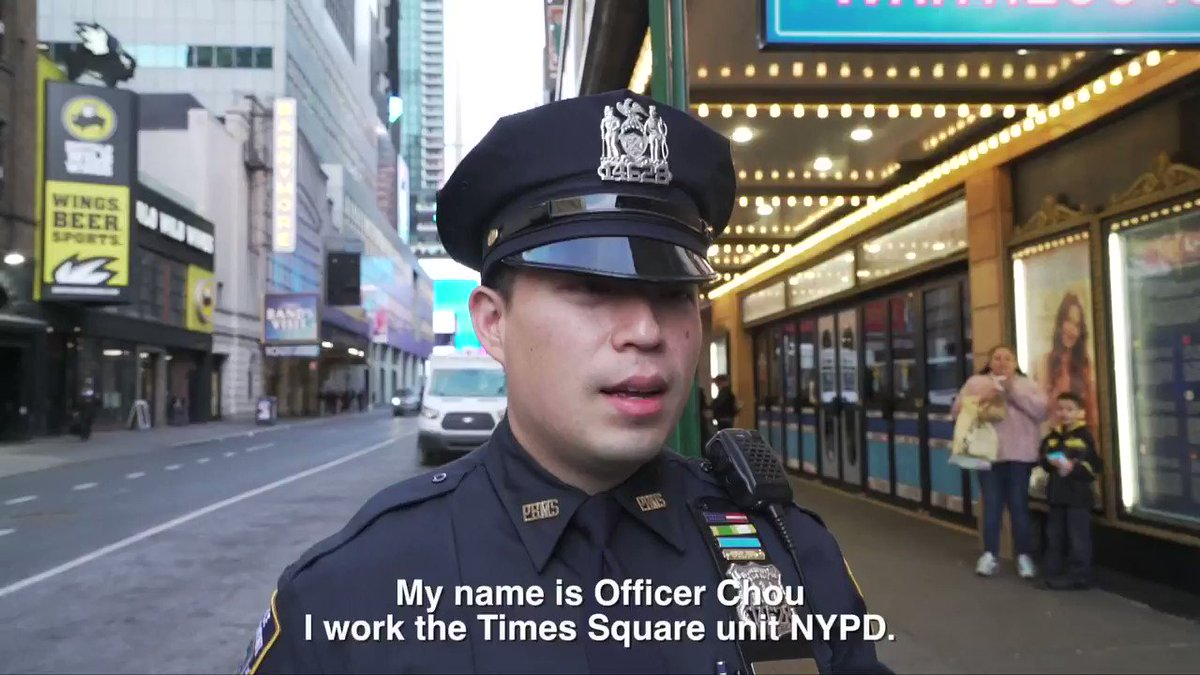 A serendipitous moment in #NYC can change your life forever! @NYPDTimesSquare Officer Chou met his wife near the Brooks Atkinson Theater by chance. So naturally we interviewed him at the very spot their unique love story began! #LoveTimesSquare #ValentinesDay