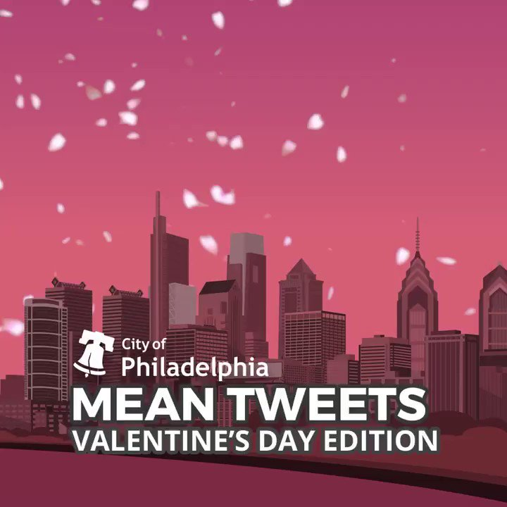 Happy Valentine's Day, Philadelphia! I wish all of you a lovely day — even the mean tweeters. ❤️