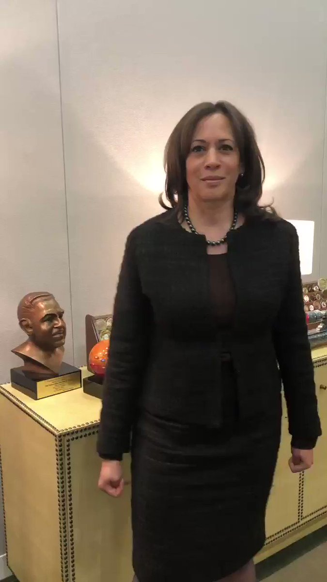 Kamala Harris's photo on Senate