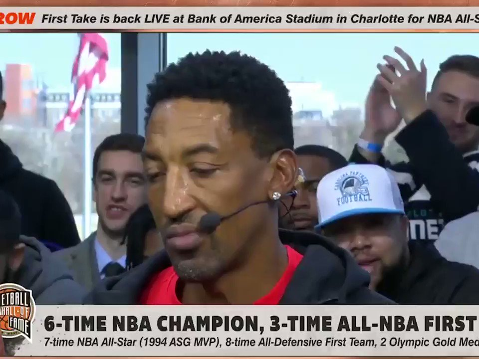 """This is going to piss off a lot of people!   """"When I look at LeBron, he's not what Michael was as a player. He's not even what Kobe was as a player."""" – Scottie Pippen  (Via @FirstTake)"""