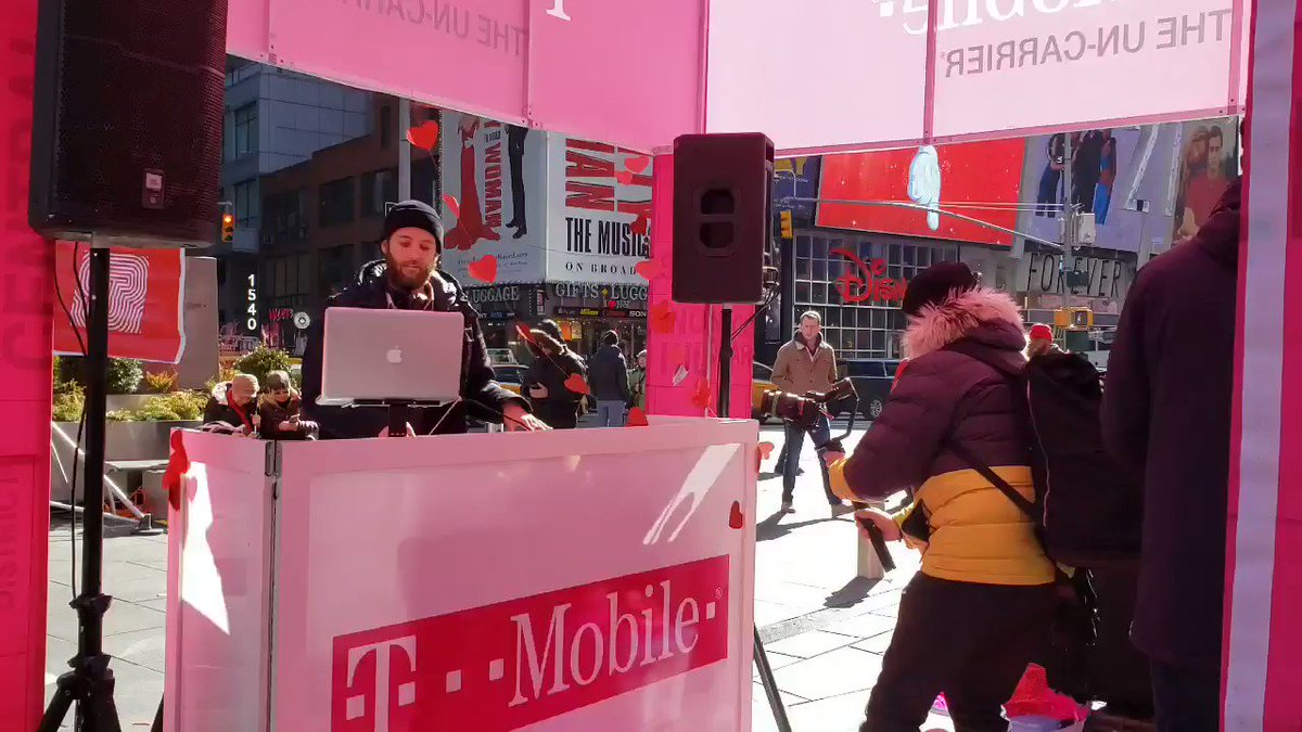 Spin around with your loved one to the music coming from #TMobileTimesSquare's DJ booth on Duffy Square! Join @TMOTimesSquare in celebrating #ValentinesDay with fun photos, dancing, and free giveaways as we host surprise proposals and weddings throughout the day.