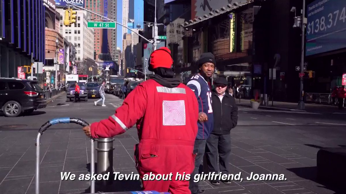 Tevin, a Times Square Alliance Sanitation worker, took a moment out of his busy day to share a few loving words about his girlfriend Joanna. Wishing you both a Happy Valentine's Day! #LoveTimesSquare