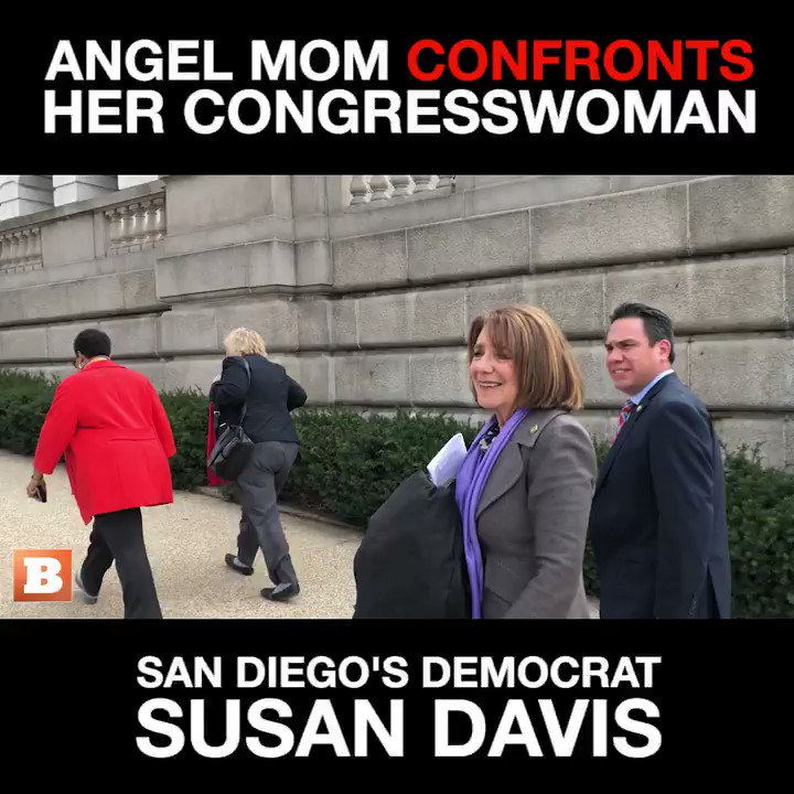 This is horrific! #SusanDavis-D smiles & walks away from #AngelMom #MelanieKortlang who lost her daughter to DRUNK #IllegalAlien driver! #Dems do NOT care abt #AmericanLives, #AmericanSafety or #AmericanSovereignty Truly despicable!   #FinishTheWall #LadyD