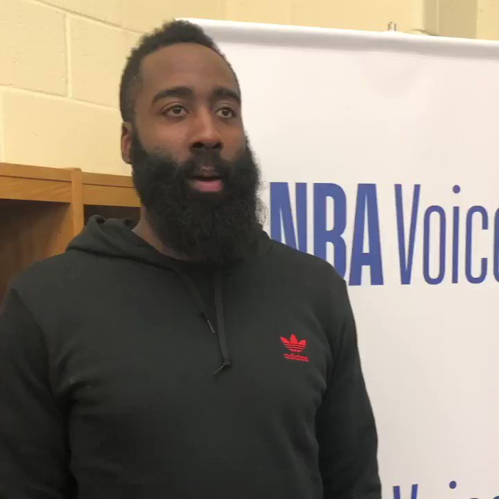 #JamesHarden reflects on tonight's community conversation with youth from @TimeOutYouth @RMFYCharlotte and local Charlotte law enforcement. #NBAVoices #NBAAllStar