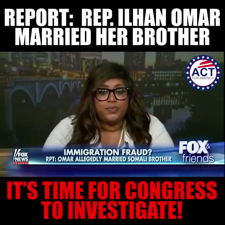 Reports have been surrounding Ilhan Omar's disturbing past for years now. It's time for Congress to investigate this matter thoroughly!  Click here to demand an investigation 👉 http://bit.ly/2SwKKih