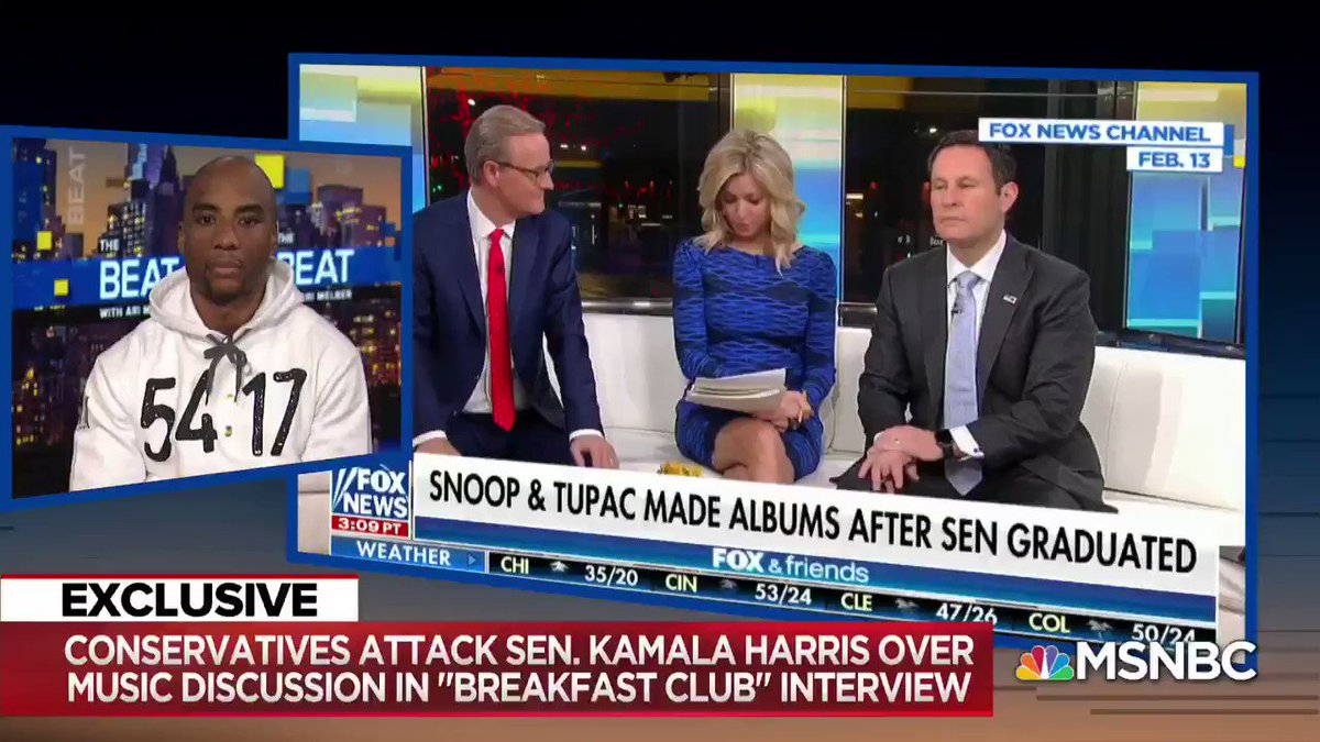 "Fox News ""absolutely, positively lied"" about Kamala Harris  @djenvy on claims Kamala Harris lied about listening to Snoop Dogg, Tupac:"