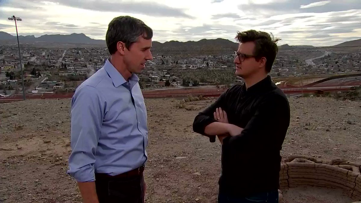 Coming up at 8PM ET... @chrislhayes talks to @BetoORourke in El Paso, TX - plus, reports from all across the border from @CalNBC, @marianaatencio, @jacobsoboroff, @trymainelee, @MorganRadford, and @GadiNBC. #inners