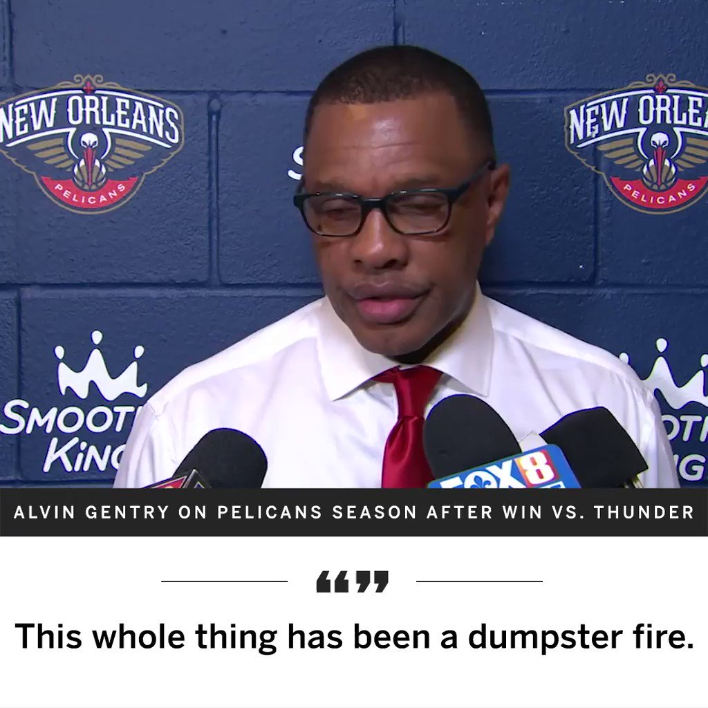 New Orleans coach sums up Anthony Davis saga in brutally honest fashion