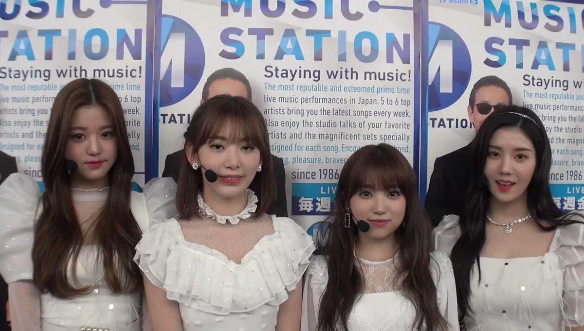 [#VIDEO] 15.02.19 – Atualização do Music Station no twitter com o IZ*ONE.  #아이즈원 #アイズワン #IZONE @official_izone