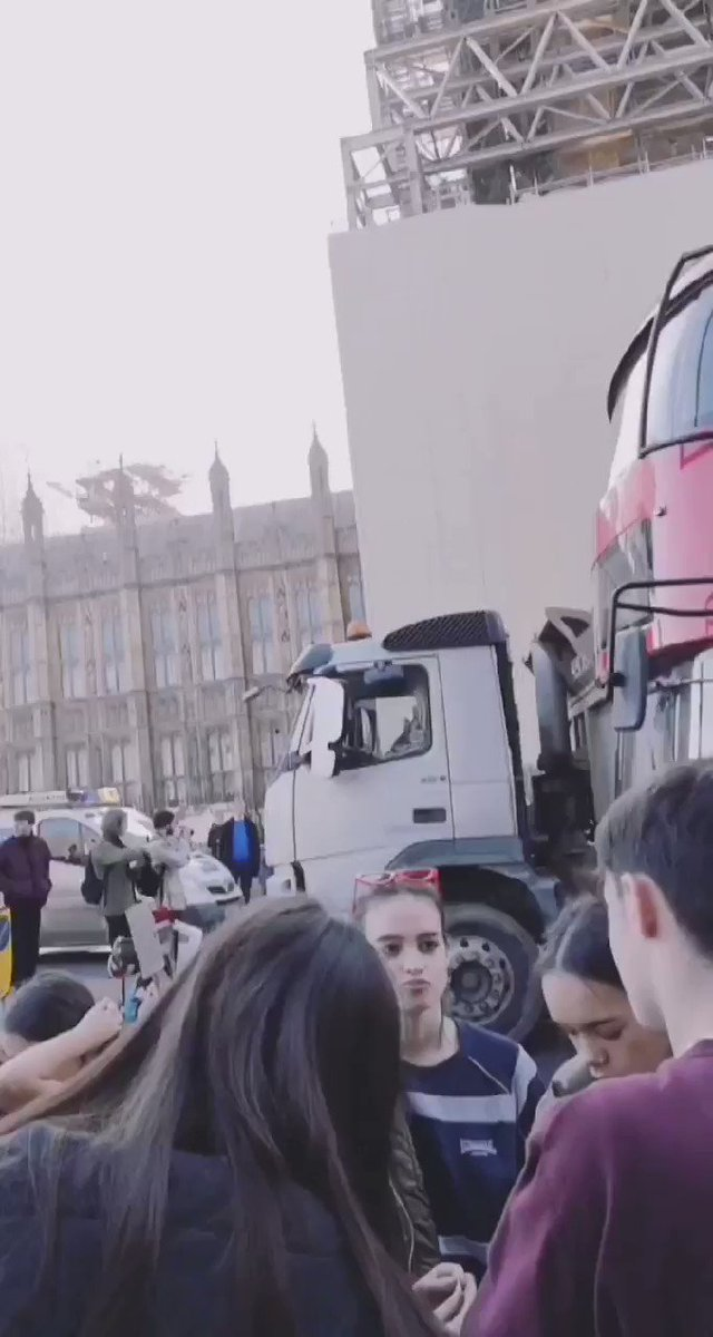 Climate change protesters are now blocking Westminster Bridge